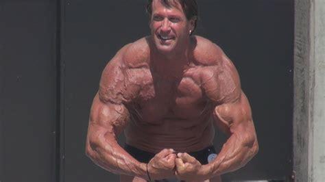 bill mcaleenan  year  bodybuilder posing routine