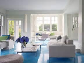 home design blue living room