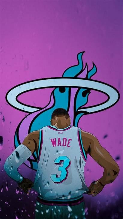 Heat Miami Wade Wallpapers Dwyane Nba Iphone