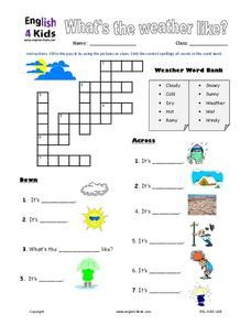 worksheets what s the weather like what s the weather like worksheet for 2nd 3rd grade lesson planet