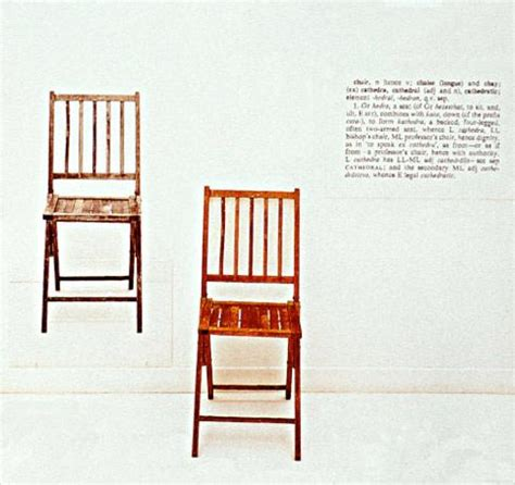 Joseph Kosuth One And Three Chairs by And History 000 Gt Gt Flashcards Gt History