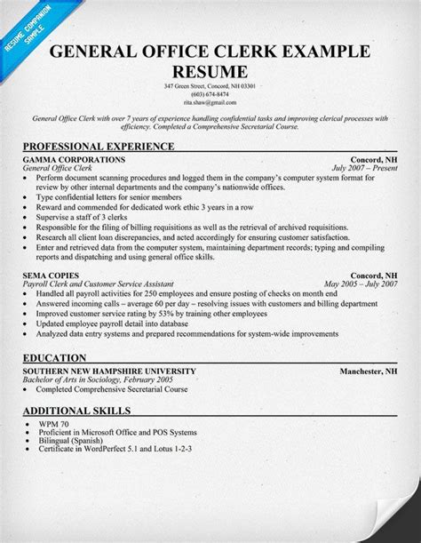 Resume Objective For Administrative Clerk by Swanson Presented The Award Saying You Can Not Be In