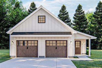 Garage Plans Plan Detached Workshop Farmhouse Modern