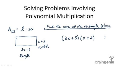 Multiplying Polynomials Word Problems Answers  Problem Solving Involving Multiplication Of