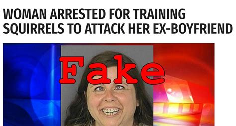 foto de Fake News: NO Woman Arrested For Training Squirrels To