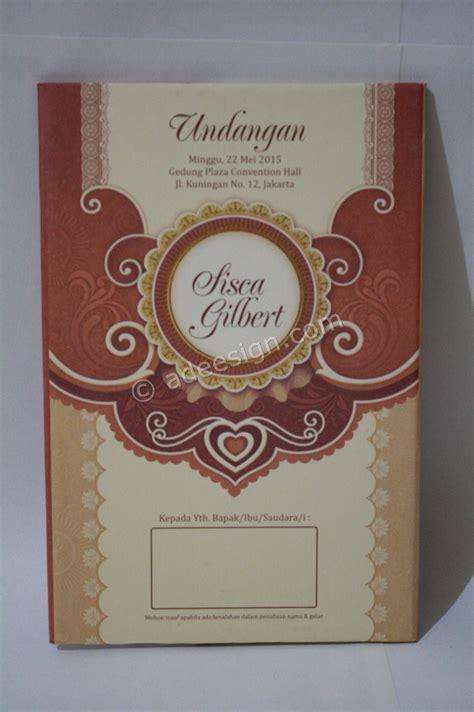 undangan pernikahan hardcover sisca  gilbert