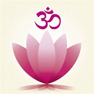 Om Symbol and Lotus flower Vector | Free Download