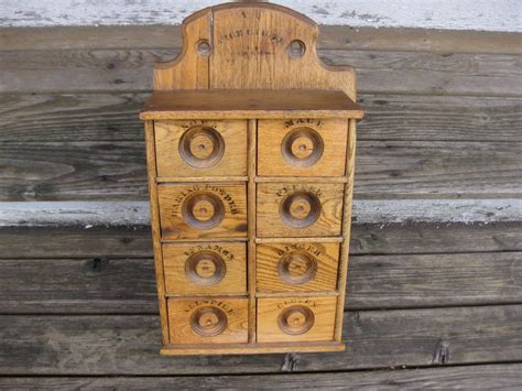 wall mounted spice cabinet antique wood spice cabinet drawers wall mounted vintage