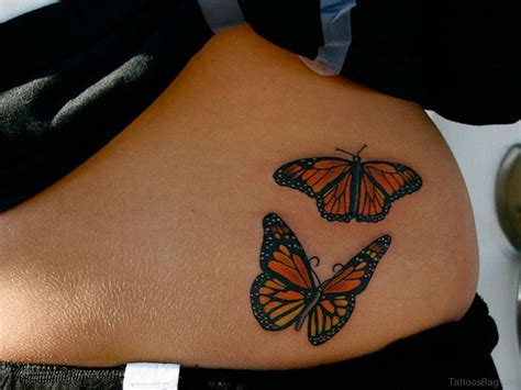 cute butterfly tattoos  waist
