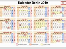 Kalender 2019 Berlin [PDF, EXCEL, WORD] Kalender 2019