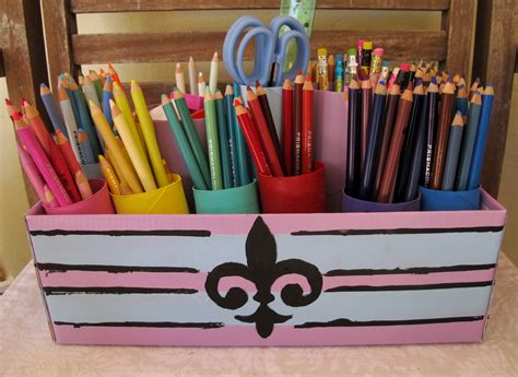 colored pencil organizer crafty friday our new series project toilet