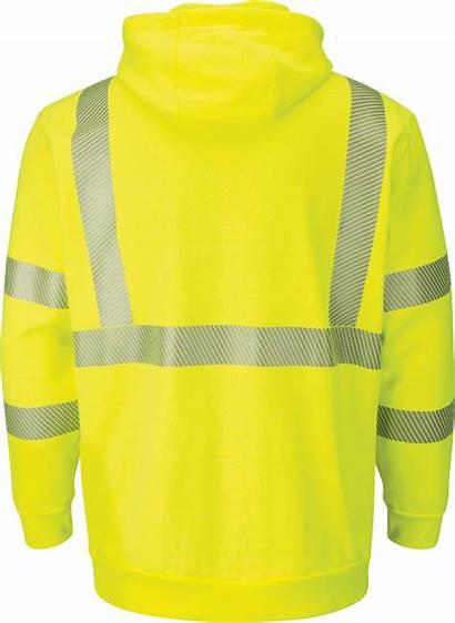 Pullover Hooded Sweatshirt Fleece Visibility Hi Bulwark