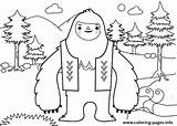 Yeti Coloring Everest Abominable Snowman Printable Template Funny sketch template