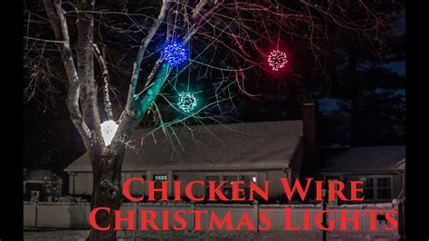 lighted chicken wire christmas balls diy