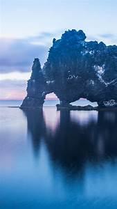 Wallpaper, Sea, Ocean, Rock, Sky, Hvitserkur, Iceland, 4k