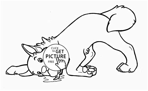 Very Funny Dog Coloring Page For Kids, Animal Coloring