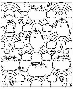 desenhos kawaii para colorir de unicornio gambarkucing