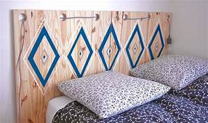Idee Deco Tete De Lit : id e d co chambre adulte fabriquer une t te de lit en bois pas cher ~ Melissatoandfro.com Idées de Décoration