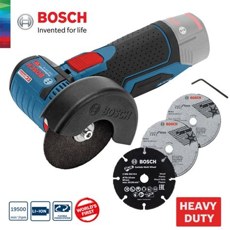 bosch gws 12v 76 bosch gws 12v 76 professional cordless angle grinder without battery charger 06019f2000