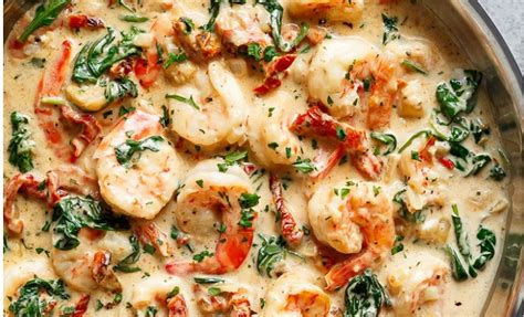 un spaghetti 192 la toscane avec crevettes et servi dans une sauce l ail cr 233 meuse un vrai
