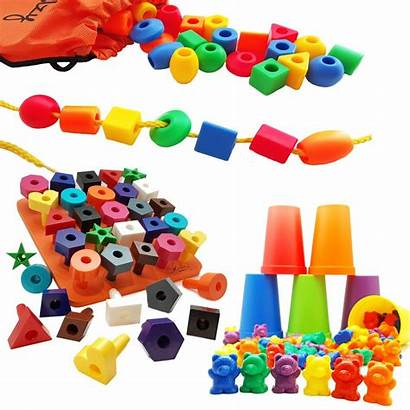 Toys Preschool Beads Learning Counting Stacking Bears