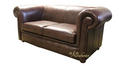 chesterfield leather sofa chesterfield 1930 2 seater settee bruciatto