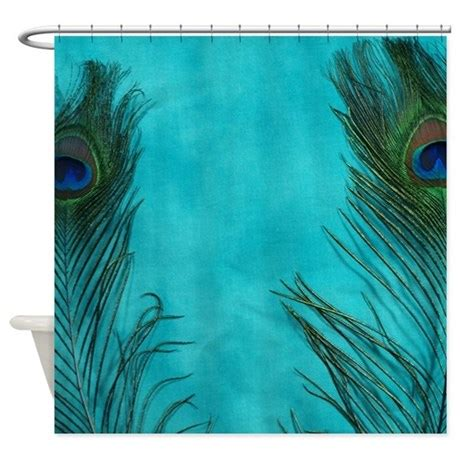 peacock shower curtain aqua blue peacock feathers shower curtain by christyoliver