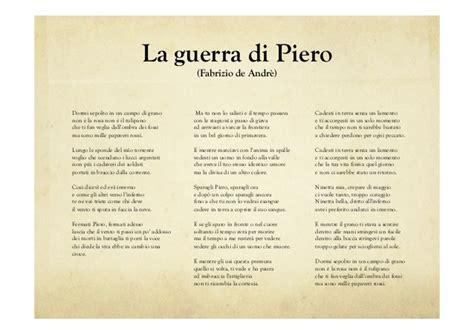 La Di Piero Testo by Il Testo Poetico