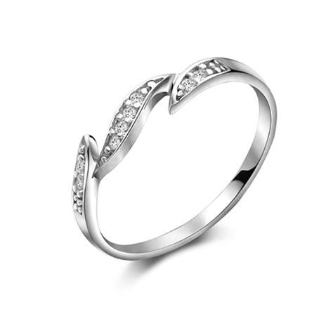 fashion simple silver rhinestone ring silver rings rings