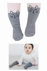 Cute Kitten Print Baby Footed Tights (end 5/21/2019 419 PM)