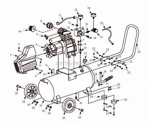 Husky Hl410100 And Hl410100aj Air Compressor Parts