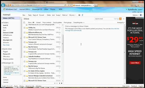 How To Clean Up Hotmail Inbox