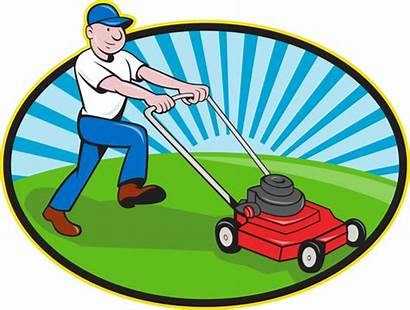 Landscaping Cartoon Clipart Lawn Mowing Cliparts Landscape