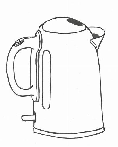 Kettle Drawing Draw Kitchen Daily Something Challenge