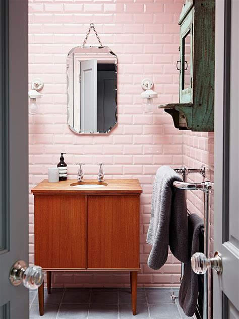 reasons  love retro pink tiled bathrooms hgtvs