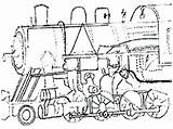 Steam Engine Coloring Getdrawings Drawing Pages sketch template