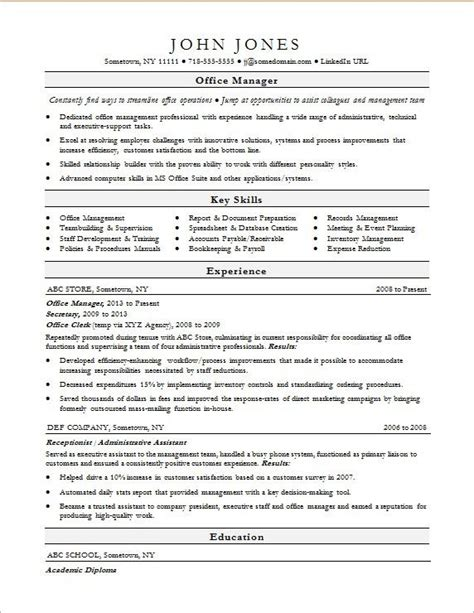 Office Manager Resume Template by Office Manager Resume Sle