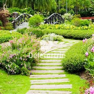 Cration D39alles De Jardin Avec Des Dalles Et Pas