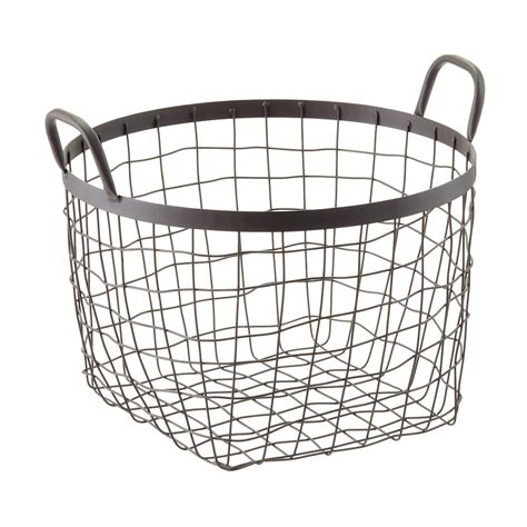 Rustic Decorative Storage Baskets With Handles The