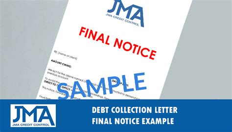 debt collection letter letter  demand  template