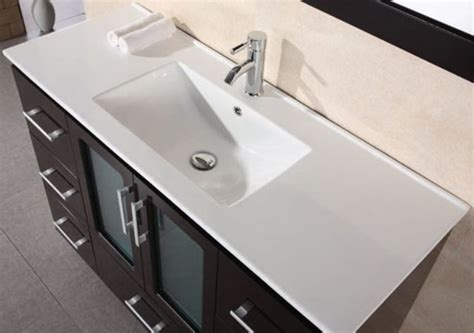 Modern Drop In Bathroom Sinks by Design Element 48 In Porcelain Countertop With Integrated