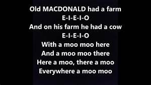 Old Macdonald Had A Farm Words Lyrics Best Popular