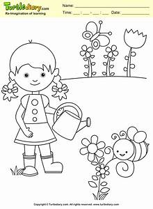 Simple Garden Coloring Pages - Spring Garden Coloring Page