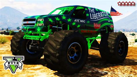 monster truck youtube videos gta 5 monster truck stunts rockstar editor reupload youtube