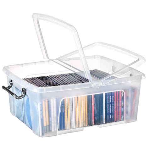 classeur rangement bureau cep strata boite de rangement plastique 24 litres boîte