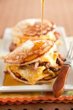 sausage pancake egg sandwich paula deen