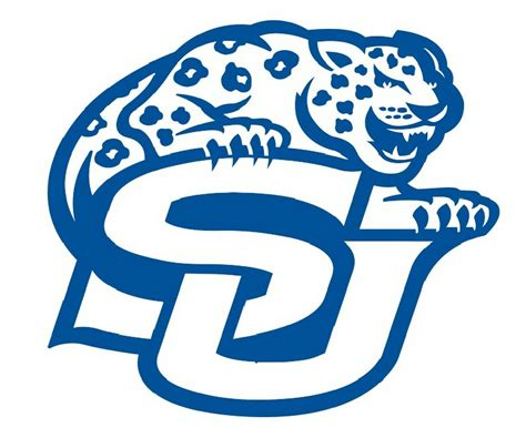 The jaguars compete in the national football. ncaa0742 Southern Jaguars SU mascot logo Die Cut Vinyl Graphic Decal Sticker