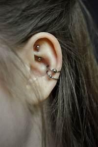 double cartilage piercings | Tumblr