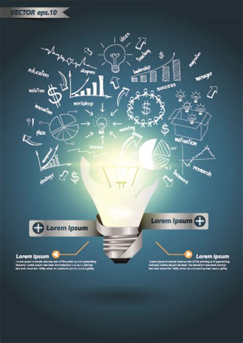 idea infographics  bulb vector graphic  vector