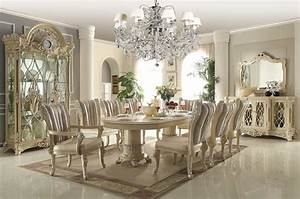 Homey Design Off-White 12-pc Traditional Dining Room Set